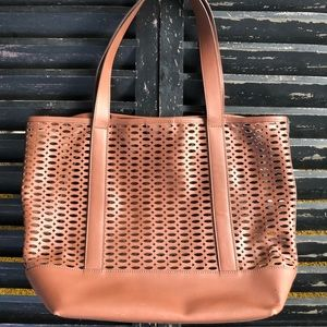 LANDS END Brown Leather Tote